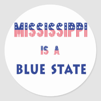 Mississippi is a Blue State Sticker