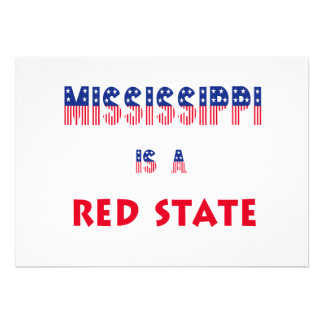 Mississippi is a Red State Personalized Announcements