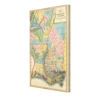 Mississippi, Louisiana, Arkansas Canvas Print