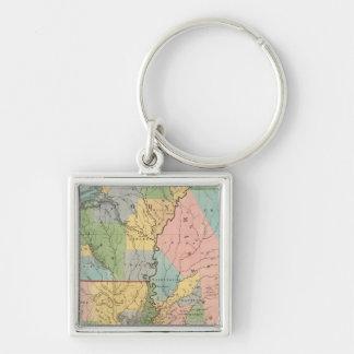 Mississippi, Louisiana, Arkansas Key Ring