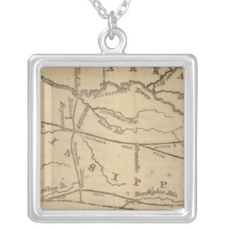 Mississippi, Louisiana, Arkansas Silver Plated Necklace