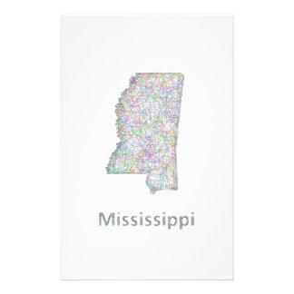 Mississippi map 14 cm x 21.5 cm flyer