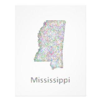 Mississippi map 21.5 cm x 28 cm flyer