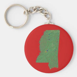 Mississippi Map Keychain