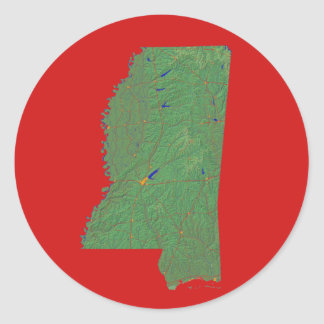Mississippi Map Sticker