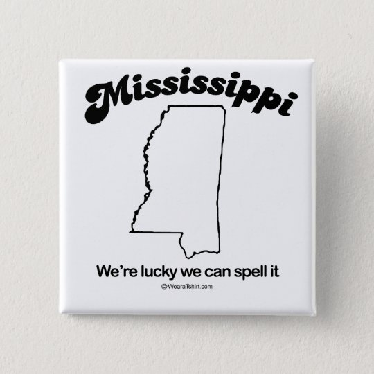 "MISSISSIPPI - ""MISSISSIPPI STATE MOTTO"" T-shirts a 15 Cm Square Badge"