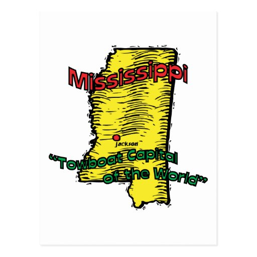 Mississippi MS  Motto ~ Towboat Capital of World Post Cards