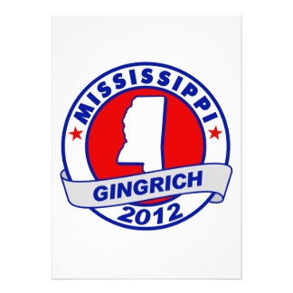 Mississippi Newt Gingrich Custom Announcement