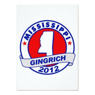 "Mississippi Newt Gingrich 5"" X 7"" Invitation Card"