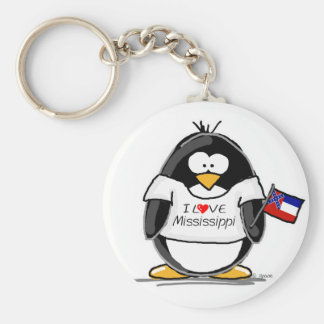 Mississippi penguin key ring
