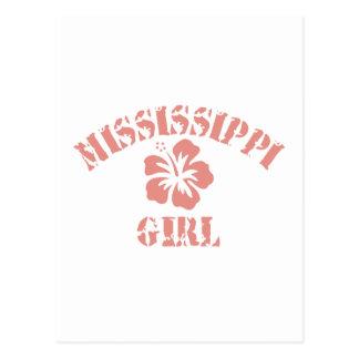 Mississippi Pink Girl Post Card