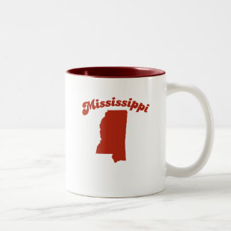 MISSISSIPPI Red State Coffee Mugs
