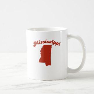 MISSISSIPPI Red State Basic White Mug