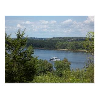 Mississippi River boat Postcard