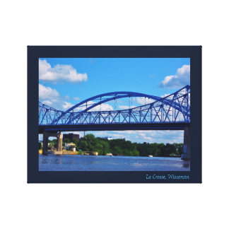 Mississippi River Bridge Canvas Print