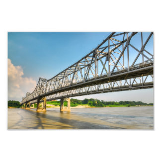 Mississippi River Bridge Natchez Photo Print
