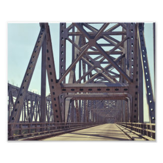 Mississippi River Bridge Trusses Photo Print