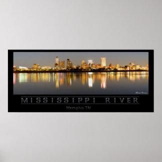 Mississippi River - Memphis TN Poster