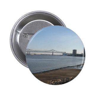 Mississippi River, New Orleans, LA 6 Cm Round Badge