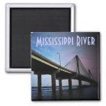 Mississippi River Square Magnet