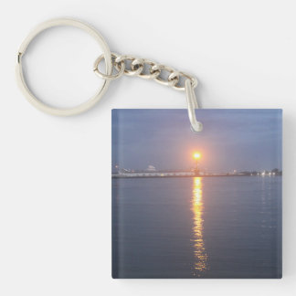 Mississippi River Sunrise Key Chain