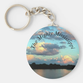 Mississippi River Sunset Key Ring