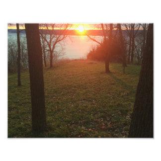 Mississippi River Sunset Photographic Print