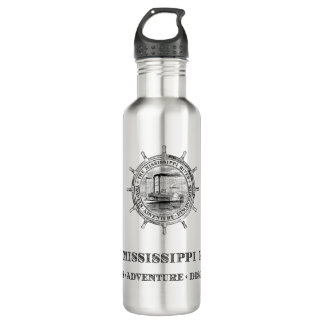 Mississippi River. Travels. Adventure. Discoveries 710 Ml Water Bottle