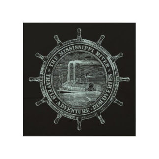 Mississippi River. Travels. Adventure. Discoveries Wood Wall Art