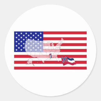 Mississippi Round Sticker
