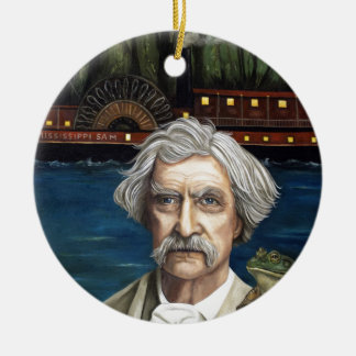 Mississippi Sam Aka Mark Twain Round Ceramic Decoration