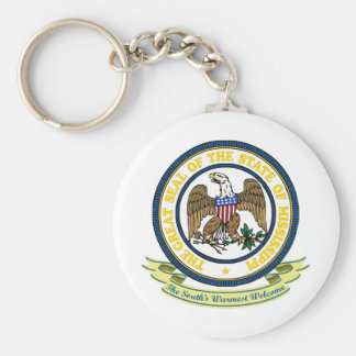 Mississippi Seal Basic Round Button Key Ring