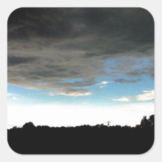 Mississippi Sky Square Sticker