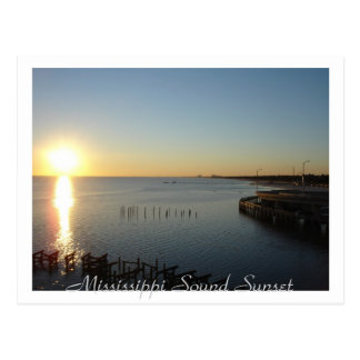 Mississippi Sound Sunset Postcard