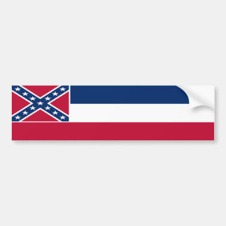 Mississippi State Flag Bumper Sticker