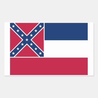 Mississippi State Flag Sticker - 4 per sheet