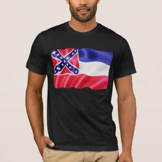 Mississippi State Flag Waving T-Shirt