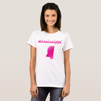Mississippi state in pink T-Shirt