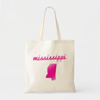 Mississippi state in pink tote bag