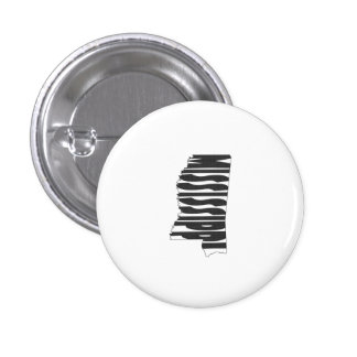 Mississippi State Name Word Art Black 3 Cm Round Badge