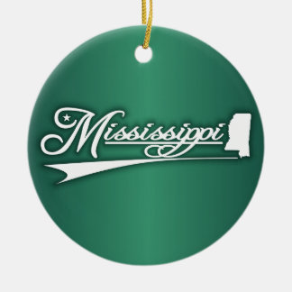 Mississippi State of Mine Christmas Ornament