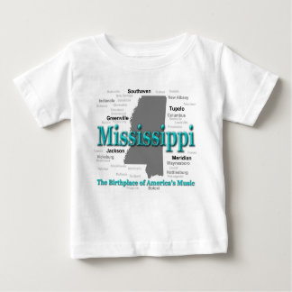 Mississippi State Pride Map Silhouette Baby T-Shirt