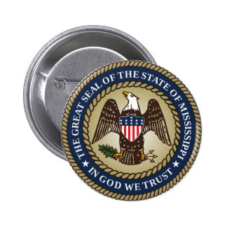 Mississippi state seal america republic symbol fla 6 cm round badge