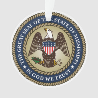 Mississippi state seal america republic symbol fla ornament