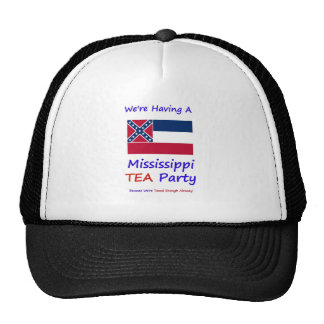 Mississippi TEA Party - We re Taxed Enough Already Mesh Hat