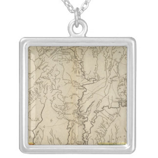 Mississippi Territory 2 Silver Plated Necklace