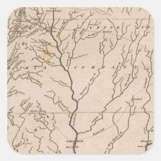 Mississippi Territory 4 Square Sticker