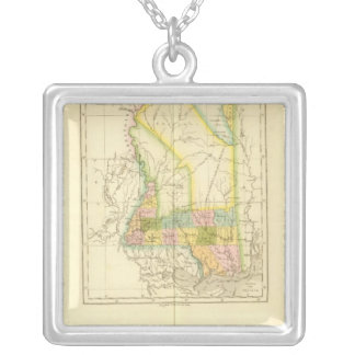 Mississippi US Silver Plated Necklace