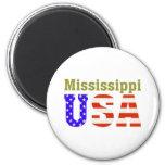 Mississippi USA! 6 Cm Round Magnet