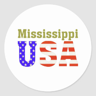Mississippi USA! Classic Round Sticker